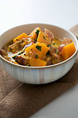 Bowl of Thai Pumpkin Curry - Stock Image - BJMC25