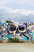Wall grafitti, Larnaca, Cyprus - Stock Image - EANBGM
