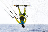 young man kiteboarding - Stock Image - CETRP8
