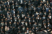 New York, USA. 23rd Nov, 2014. Thousands of Bearded Hasidic Rabbi's clad in Traditional Hassidic grab lined up in front of their worldwide headquarters at 770 Eastern Parkway in Brooklyn to take their annual photograph. These rabbi's come from around the world to participate in this event. © Bruce Cotler/Globe Photos/ZUMA Wire/Alamy Live News - Stock Image - EB0KPN