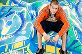 A teenage boy - Stock Image - A7GDBH