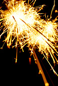sparklers on Guy Fawkes night - Stock Image - AXTJ68