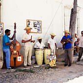 Jazz band Havana Cuba Caribbean - Stock Image - AEDY0C