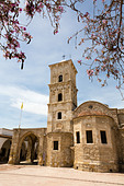 Agios Lazarus Church, with carob blossom, Larnaca, Cyprus - Stock Image - E15MNJ