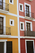 buildings in ibiza, a beautiful and white island of spain - Stock Image - BENDCD