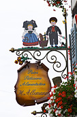 patisserie shop wrought iron sign h allemann eguisheim alsace france - Stock Image - C0TDH3