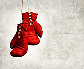 red boxing gloves - Stock Image - CEB0WM