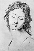 Schadow, Johann Gottfried, 20.5.1764 - 27.1.1850, German sculptor and graphic artist, works, portrait of a young girl, 19th cent - Stock Image - CR7MEH