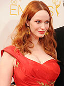 CHRISTINA HENDRICKS US film actress in August 2014. Photo Jeffrey Mayer - Stock Image - E7PJHF