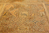 Cyprus mosaics at ancient Kourion, Curium, - Stock Image - EFJCD1
