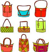 vector collection of woman's accessories - Stock Image - DNM0N0