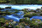 River in Caucasus mountains, Abkhazia, Georgia - Stock Image - EFN865