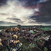 scrap heavy machinery - Stock Image - D886XD