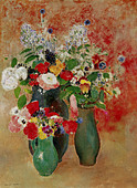 "fine arts, Redon, Odilon, (22.4.1840 - 6.7.1916), painting, ""flowers still life"", Von der Heydt-Museum, Wuppertal, Germany, b - Stock Image - BD67E4"