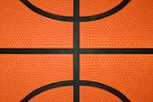 Basketball Close Up - Stock Image - BGXWD8