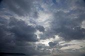 A dark moody sky - Stock Image - BT2XMW