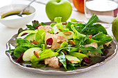 Apple,Grapefruit and Cranberry salad - Stock Image - CT0R7X