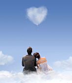 heart of cloud - Stock Image - C3NTF9