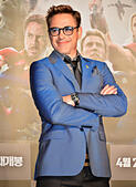 """Robert Downey Jr, April 17, 2015, Seoul, South Korea : Actor Robert Downey Jr. attends a Korea Premiere for """"Avengers: Age of Ultron"""" at SETEC Convention Hall in Seoul, Soth Korea on April 17, 2015. - Stock Image - EMG90A"""