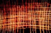 Candle Flames Abstract taken with slow shutter speed in a cathedral - Stock Image - B2WW09