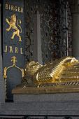 Sweden, Stockholm, Stadshuset, Tomb of Birger Jarl - Stock Image - AAPWB0