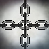 chain links - Stock Image - CRD9FC