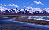 Lhasa. 17th Oct, 2014. Photo taken on Oct. 17, 2014 shows the scenery of the Lake Namtso surrounded by snow in southwest China's Tibet Autonomous Region. © Liu Kun/Xinhua/Alamy Live News - Stock Image - E933HP