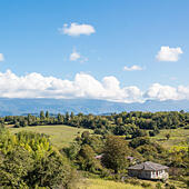 View of Caucasus mountains, Abkhazia - Stock Image - EA3AGM