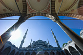 Turkey, Istanbul, Blue Mosque - Stock Image - C6DXP1